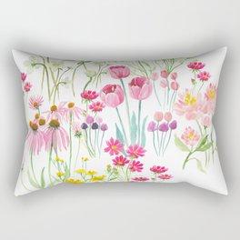 field flower bouquet Rectangular Pillow