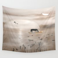 seahorse Wall Tapestries featuring Seahorse by Laake-Photos
