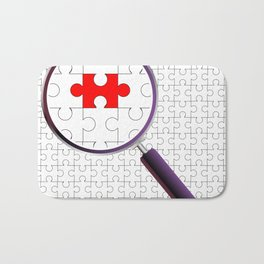 Odd Piece Magnifying Glass Bath Mat