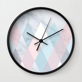Diamond Peaks on Marble Wall Clock