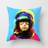 beastie boys Throw Pillows featuring Gioconda Music Project · Beastie Boys · Adam Yauch by Marko Köppe