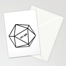 Let's Roll! D20 Stationery Cards