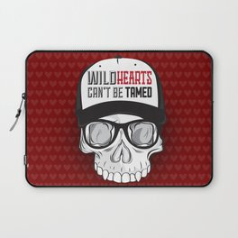 Wild Hearts Can't Be Tamed Skull Trucker Hat  Laptop Sleeve