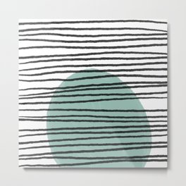Lines and Color Series 5   Modern art home decor, boho chic home, minimalist pattern Metal Print
