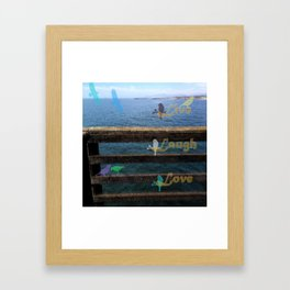 Live, Laugh, Love Framed Art Print