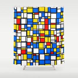 Mondrian Style 2 Shower Curtain