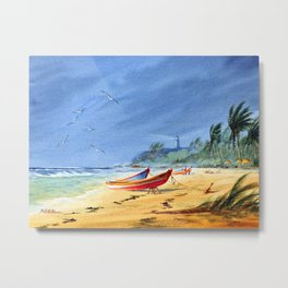 Sudden Storm at Maunabo Beach Puerto Rico Metal Print