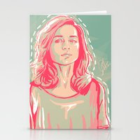 allison argent Stationery Cards featuring allison + colors by christina