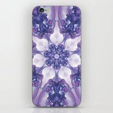 Violet and Magenta Fractal Kaleidoscope Mandala iPhone & iPod Skin