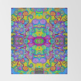 Klimt Tree of Life Mandala Throw Blanket