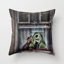 Joker Cosplay 4 Throw Pillow