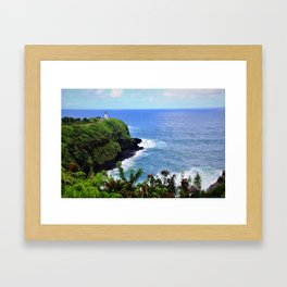Kilauea Point Lighthouse Kauai by Reay of Light Framed Art Print