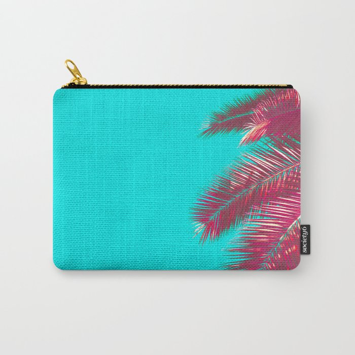 Neon Palm Carry-All Pouch