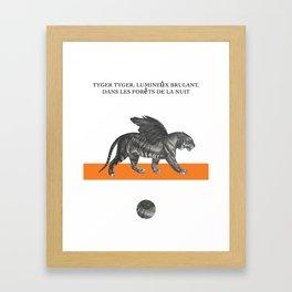 Tyger, tyger! Framed Art Print