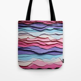 Colour waves Tote Bag