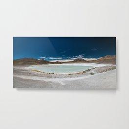 Panorama of Laguna Hedionda, Bolivia Metal Print
