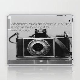 Dorothea Lange Quote Vintage Camera Laptop & iPad Skin