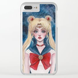 Defender of Love and Justice Clear iPhone Case