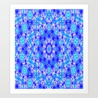 snowflake Art Prints featuring Snowflake by Kimberly McGuiness