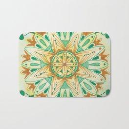 Simple Green/Yellow Mandala Bath Mat