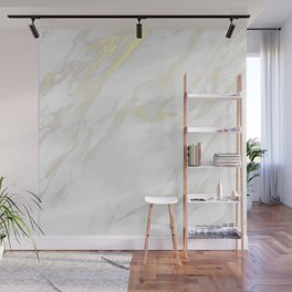 White marble gold accents Wall Mural