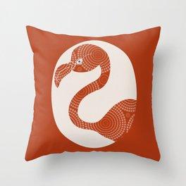 Floral Flamingo Throw Pillow
