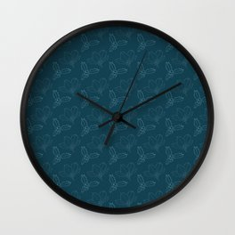 Holy Berries on Blue Wall Clock