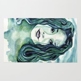 Maybe I'm A Mermaid (Tori Amos inspired art) Rug
