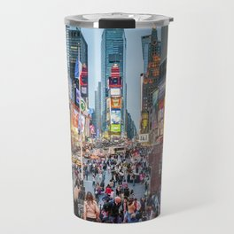 Times Square Tourists Travel Mug