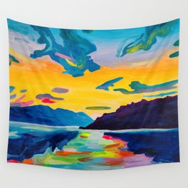 Evening At The Lake Wall Tapestry