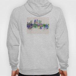 Tokyo V3 skyline in watercolor background Hoody