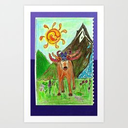 Moose Mountain Art Print