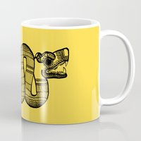 aztec Mugs featuring Aztec by Estelle F