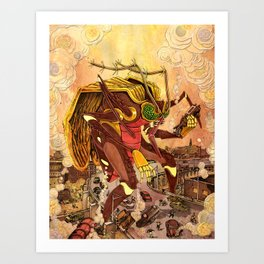 Attack of the 50 Foot Mosquito Art Print