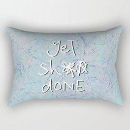 get sh** done - blue scribbles Rectangular Pillow