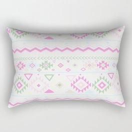Blush Pink green geometrical aztec tribal Rectangular Pillow