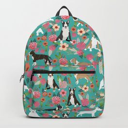 Bull Terrier dog breed pattern florals dog lover gifts pet friendly designs Backpack