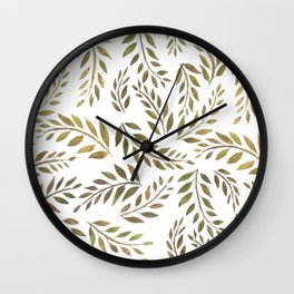 Palms & Fronds - Olive Wall Clock