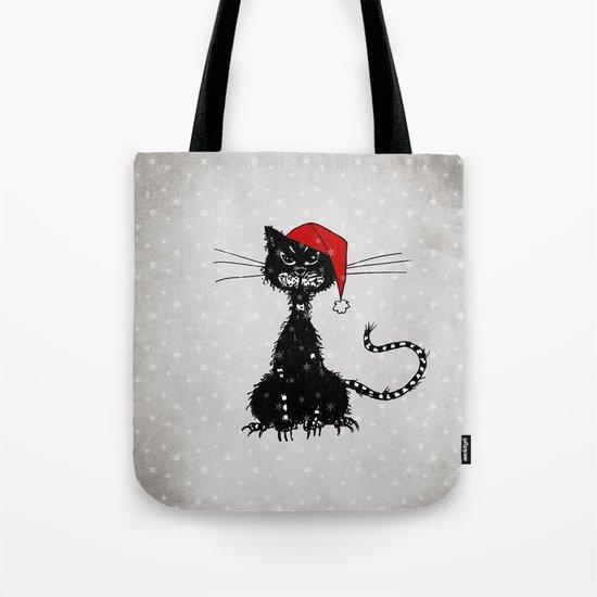 Evil Christmas Cat Tote Bag
