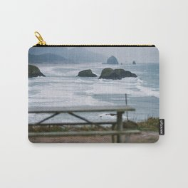 Haystack Rock view from Ecola 2 Carry-All Pouch