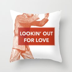 Looking out for love Throw Pillow
