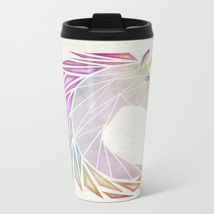 unicorn cercle Metal Travel Mug