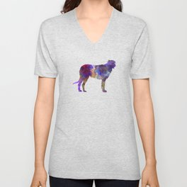 Irish Wolfhound in watercolor Unisex V-Neck