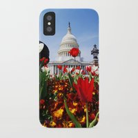 patriotic iPhone & iPod Cases featuring Patriotic Tulips by Madison Webb