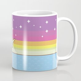 Admiral Whiskers Magical Narwhal Ride Coffee Mug