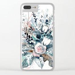 Frostflowers Clear iPhone Case