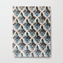 Moroccan Tile Pattern Metal Print