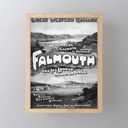 retro monochrome Falmouth Framed Mini Art Print