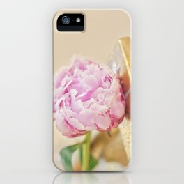 PEONY WITH GOLD iPhone Case