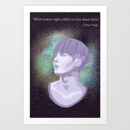 BTS Suga Galaxy Art Print